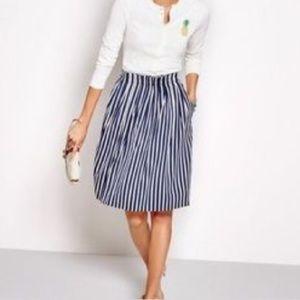 5d1ecf3a61e6ca J. Crew Factory Skirts | J Crew Factory Vertical Striped Midi Skirt ...